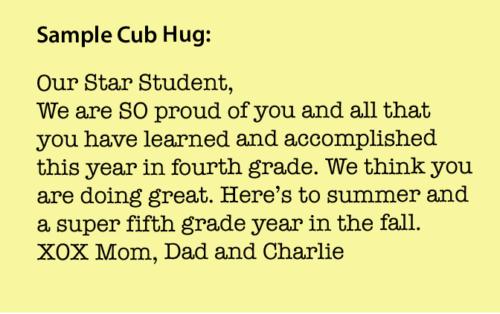 Yearbook Cub Hugs