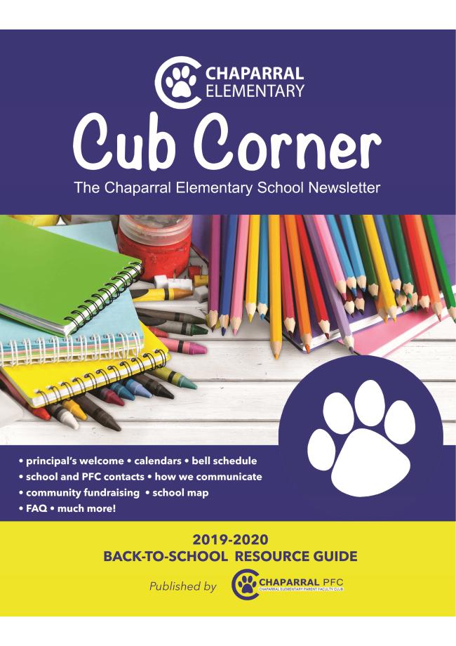 Cub Corner Back-to-School Resource Guide