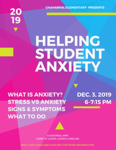 Helping Student Anxiety